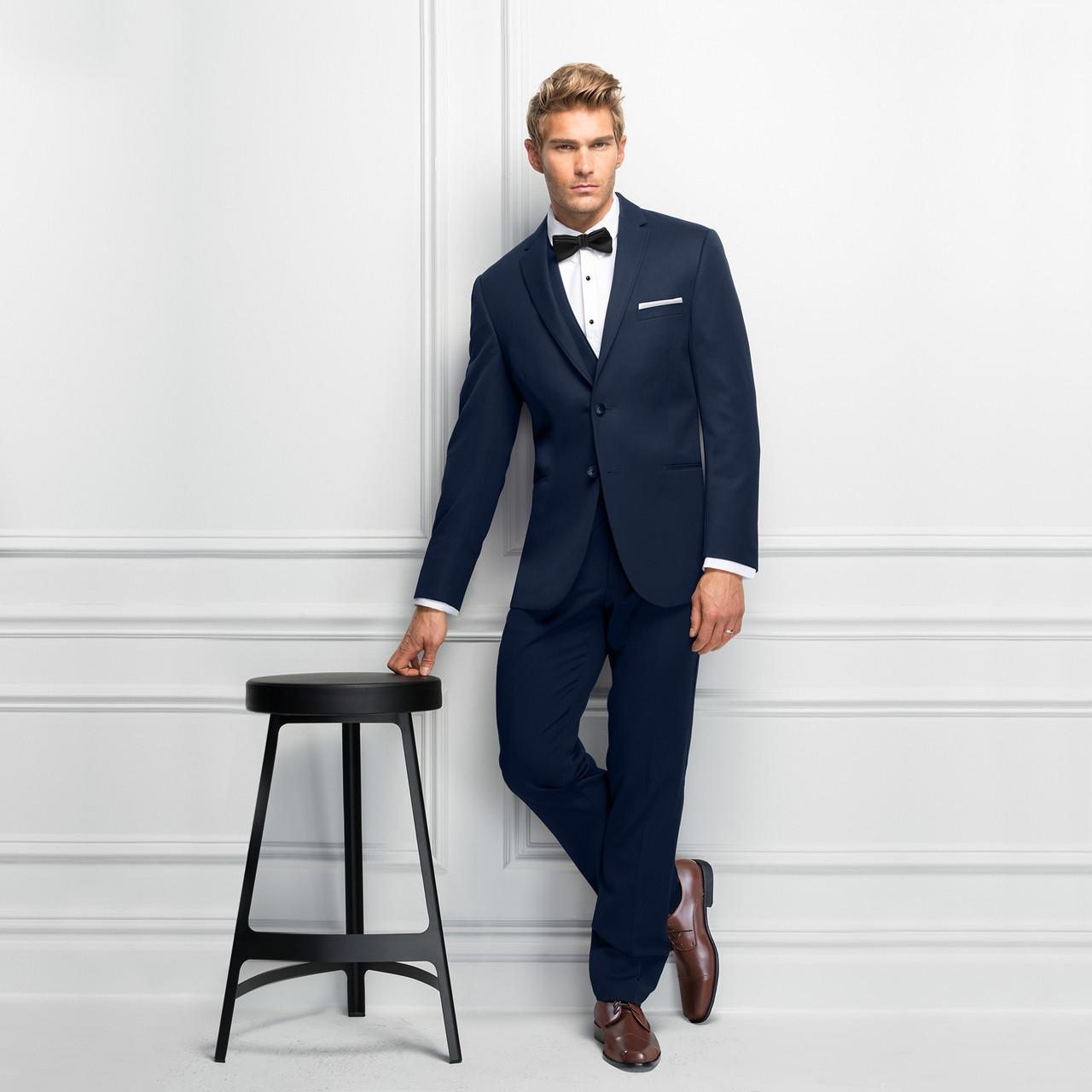 7c37567b720e Michael Kors Ultra Slim Fit Navy Sterling Wedding Suit Style J 371. Image  1. Loading zoom