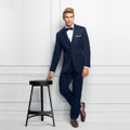 Michael Kors Ultra Slim Fit Navy Sterling Wedding Suit Style J 371