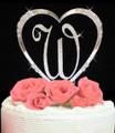Completely Covered ~ Swarovski Crystal Initial & French Flower Heart
