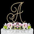 Renaissance ~ Swarovski Crystal Wedding Cake Topper ~ Gold Letter