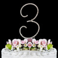 Renaissance ~ Swarovski Crystal Wedding Cake Topper ~ Number 3