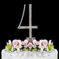 Renaissance ~ Swarovski Crystal Wedding Cake Topper ~ Number 4