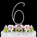 Renaissance ~ Swarovski Crystal Wedding Cake Topper ~ Number 6