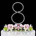 Renaissance ~ Swarovski Crystal Wedding Cake Topper ~ Number 8