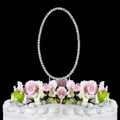 Renaissance ~ Swarovski Crystal Wedding Cake Topper ~ Number 0