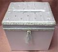 White Satin Jeweled Box RENTAL