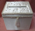 Ivory Satin Jeweled Box RENTAL