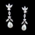 abg 3891 Rhinestone & Pearl Drop Earring