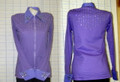 Custom Western Pleasure Show Shirt - Lilac - Size XS
