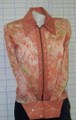 Custom Western Pleasure Show Shirt - Peach - Size XS