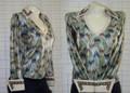 Custom Horsemanship Show Shirt - Sage/Tans - Size XS