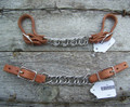 Curb - Harness Leather with Flat Stainless Steel Chain