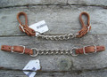 Curb Strap - Harness Leather with Single Chain