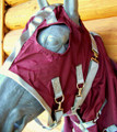 Nylon Hood - Burgandy and Silver by BMB
