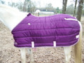 Kensington All Around Quilted Blanket - Plum - Size 74