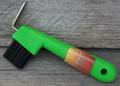 Hoof Pick - Brush Combo (Lime)