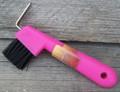 Hoof Pick - Brush Combo (Pink)