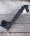 Hoof Pick - Horse Head w/Brush (Black)