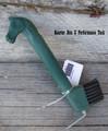 Hoof Pick - Horse Head w/Brush (Green)