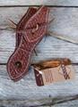 Slobber Straps (Pair) - Basket Stamped (Chestnut)