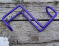 "Bridle Hook - Vinyl Coated Steel - 4"" (Purple)"