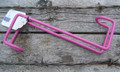 "Bridle Hook - Vinyl Coated Steel - 8"" (Pink)"