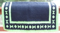Black Tie/Diamond Show Blanket - 38x34 (Lime/Black)