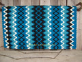 Arroyo Seco Show Blanket - 38x34 (Show Turquoise/Cream and Black Accents) by Mayatex