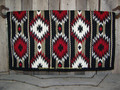 2x2 Show Blanket - 38x34 (Black Base/Red and Sand Accents) by Mayatex