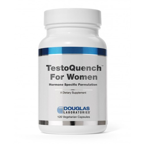 TestoQuench™ for Women decreases production of testosterone and promotes the production of estrogen in women to support the healthy function of female tissues.