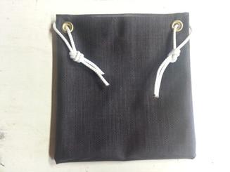 "11"" x 11"" Tie-on Medium Black Mesh Halyard / Accessory Bag"