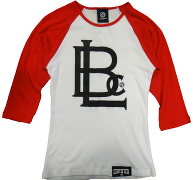 All-star style in a sporty two-tone raglan sleeve t-shirt with a form flattering fit. 5.8 oz., 100% combed ringspun cotton Contrast color three-quarter sleeves and three-eighths inch neck binding Side seamed for a fashionable custom contoured fit 5.8 oz., 100% combed ringspun cotton Contrast color three-quarter sleeves and three-eighths inch neck binding Side seamed for a fashionable custom contoured fit