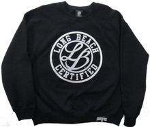 LONG BEACH CERTIFIED LB CURSIVE CREWNECK