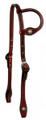 Tooled Slide Ear Headstall - Basket weave with Conchos