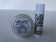 Noni Salve and Peppermint Lip Balm Set