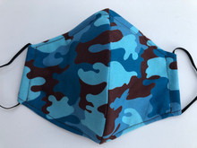 Face Mask(Blue/Camo)