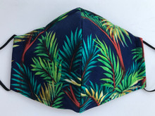Face Mask(Navy Palm Trees)