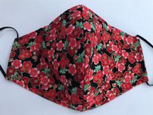 Face Mask(Red w/ Pink Sakura)