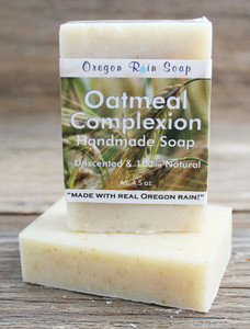 Oatmeal Complexion - mild, unscented soap 100% All Natural Oatmeal Exfoliant