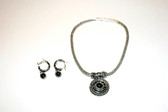 Jet Black Necklace/Earring Set
