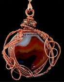 Striped Red Agate Wire Weave