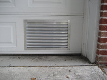 "Our standard mill finish 2"" depth louver used in a garage door application"