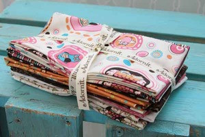 Life's A Hoot Fat Quarter Bundle in Pink