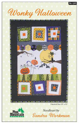 Pine Mountain Designs - Wonky Halloween Wall Hanging