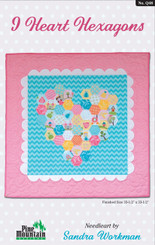 Pine Mountain Designs - I Heart Hexagons Wall Hanging
