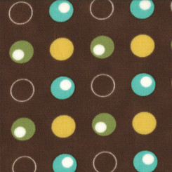 Glamping Dots Polka Dance - Dark Chocolate