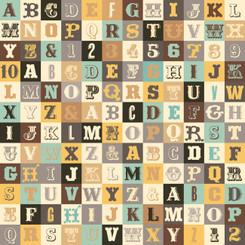 Sasparilla Alphabet - Teal