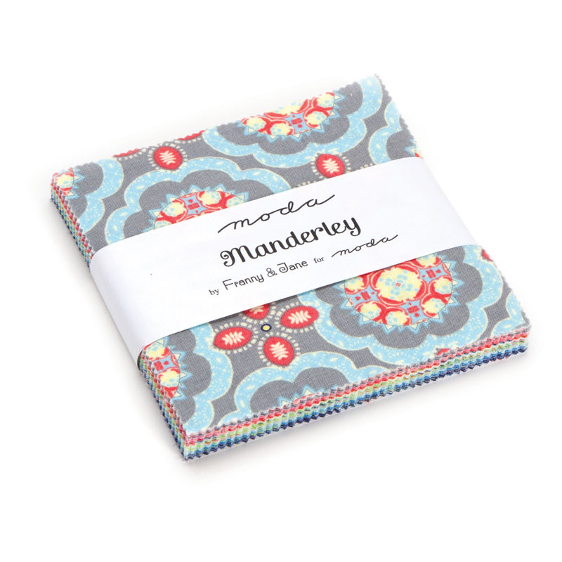 """42 x 2.5/"""" squares Chestnut Street Moda Candy Fabric Pack"""