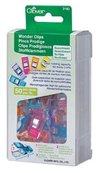 Clover Wonder Clips Assorted 50 Count