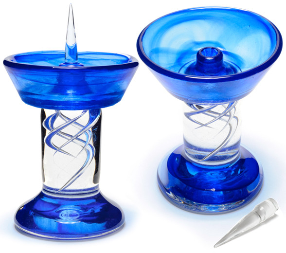Cobalt Royal Glass Debowler